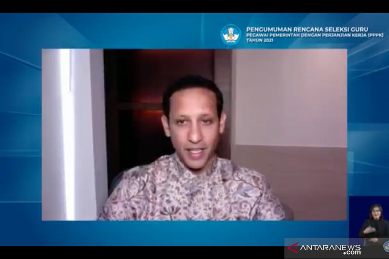 Menteri Pendidikan dan Kebudayaan (Mendikbud) Nadiem Anwar Makarim di Jakarta, Senin (23/11). (Foto: Antara/Indriani)