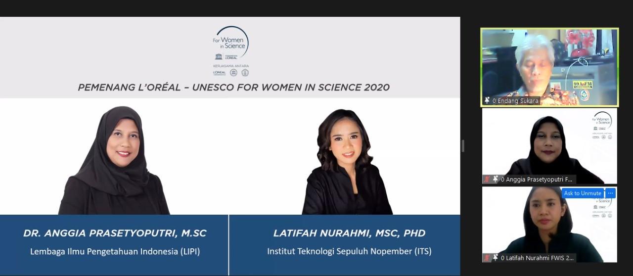 Dua ilmuwan wanita Indonesia raih penghargaan UNESCO. Foto: PR Loreal