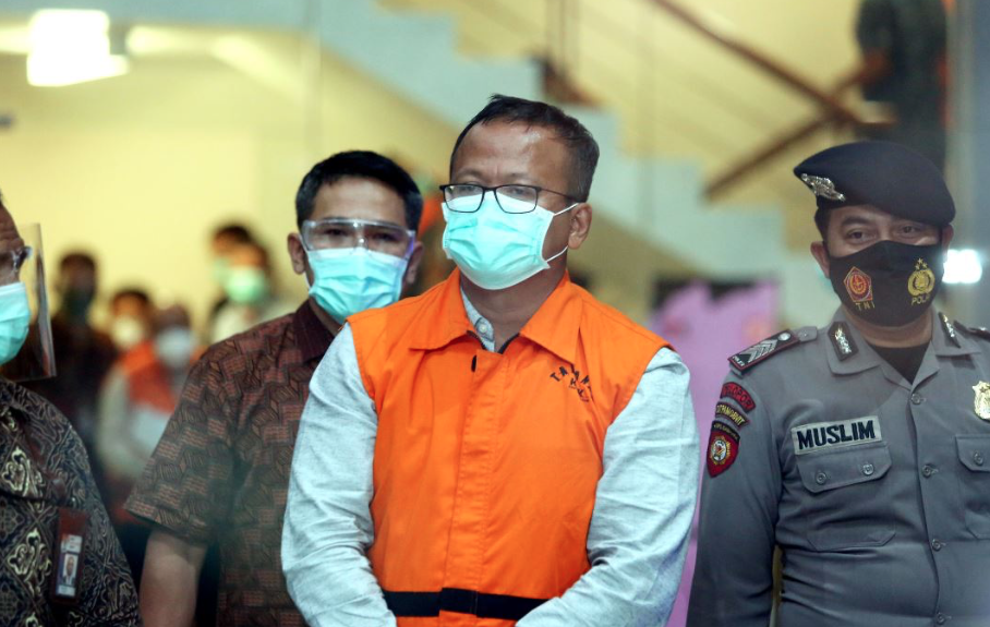 Edhy Prabowo saat ditangkap KPK. FOTO: Antara