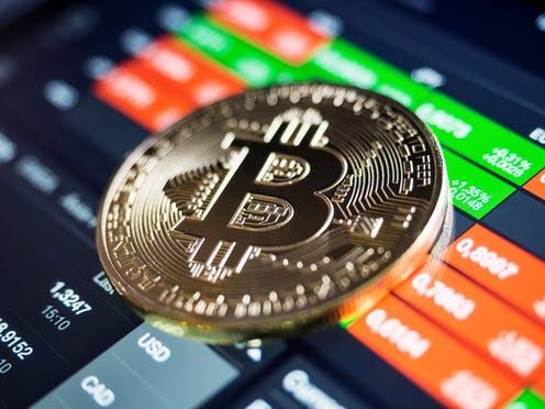 Bitcoin. Ilustrasi: The Conversation
