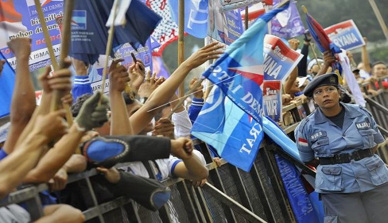 Kampanye Partai Demokrat. FOTO: Antara
