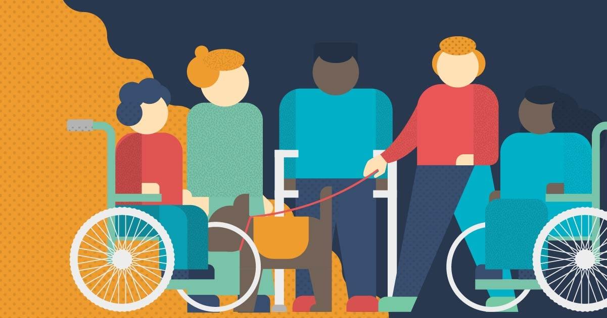 Ilustrasi penyintas disabiilitas. Foto: ILO