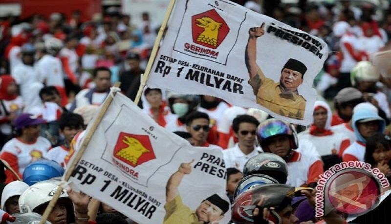 Kampanye Partai Gerindra. Foto: Antara