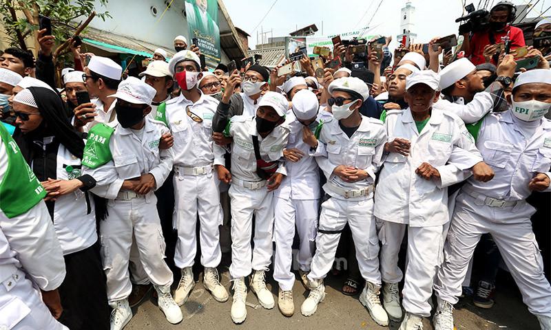 Laskar Front Pembela Islam (FPI). (Foto: Ricardo/JPNN))