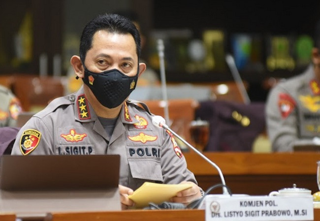 Komjen Listyo Sigit Prabowo, calon tunggal Kapolri. (Foto: Pool Berita Parlemen)