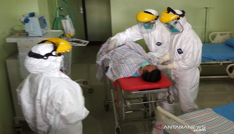 Pasien covid-19 di Indonesia. Foto: Antara