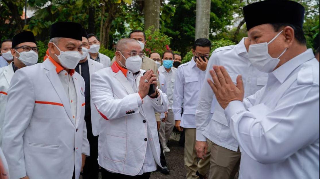Para elite PKS bertemu Ketua Umum Partai Gerindra Prabowo Subianto dan jajaran dalam Silaturahmi Kebangsaan, Selasa (4/5).(Foto: Dok PKS)