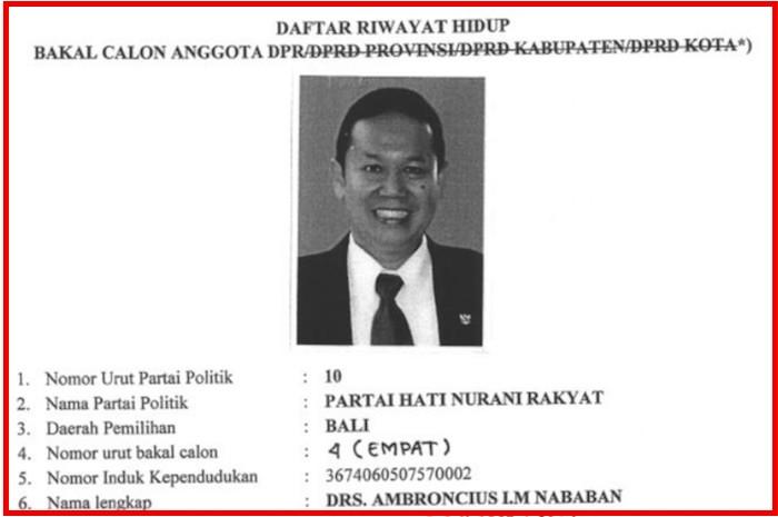 Ambroncius Nababan. (Foto: JPNN/KPU)