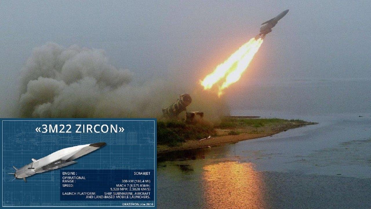 Rusia menguji rudal terbarunya bernama March 8 Zircon. (Foto: Youtube/Military Technology Zone)