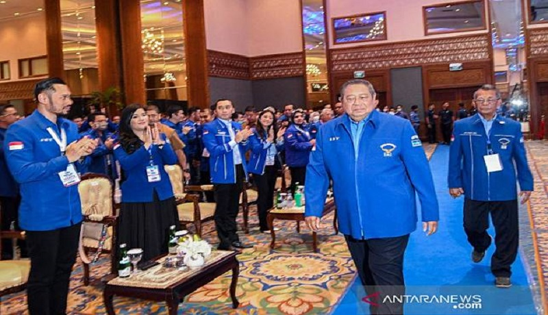 Agus Harimurti Yudhoyono (AHY) saat terpilih sebagai Ketum Demokrat. FOTO: Antara