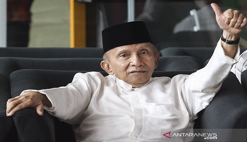 Pendiri Partai Ummat Amien Rais. Foto: Antara