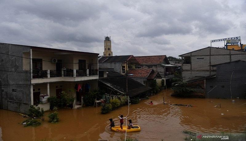 Banjir di Cipinang Melayu, Jakata Timur. FOTO: Antara