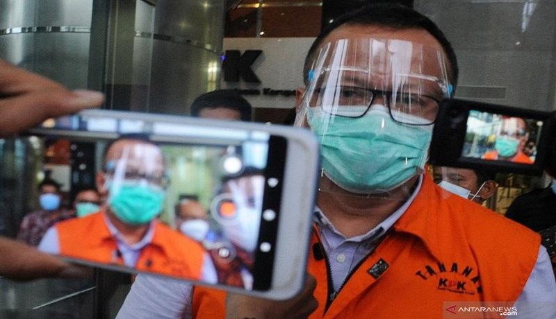 Tersangka suap Edhy Prabowo dibawa ke KPK. FOTO: Antara
