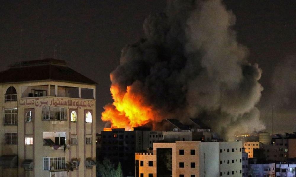 Serangan Israel ke jalur Gaza. Foto: reuters.