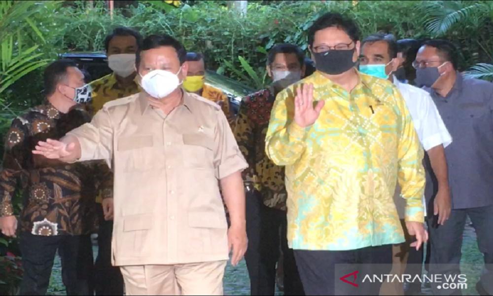 Prabowo Subianto dan Airlangga Hartarto. FOTO: Antara