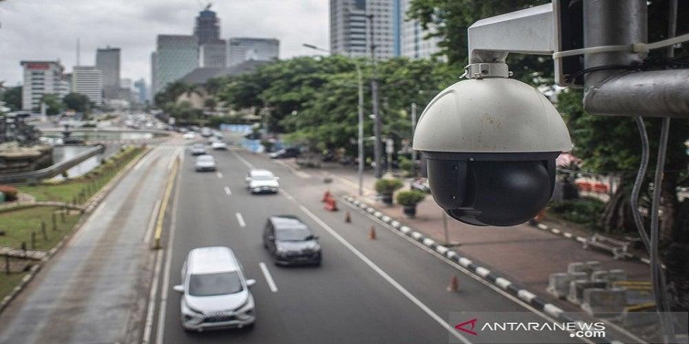 Kamera untuk menilang elektronik. FOTO: Antara