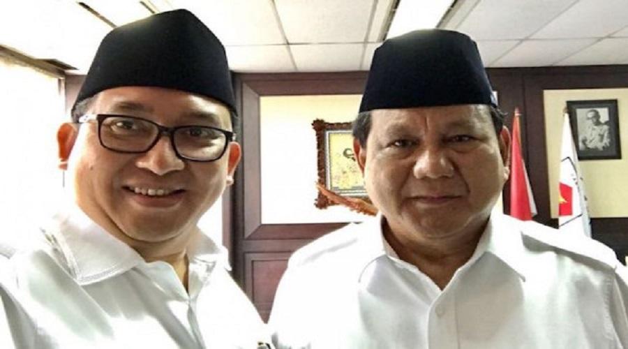 Prabowo dan Fadli Zon. (Instagram/fadlizon)
