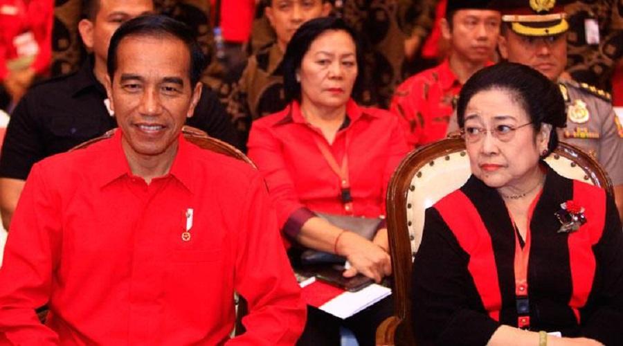 Presiden Jokowi dan Megawati. FOTO: Antara