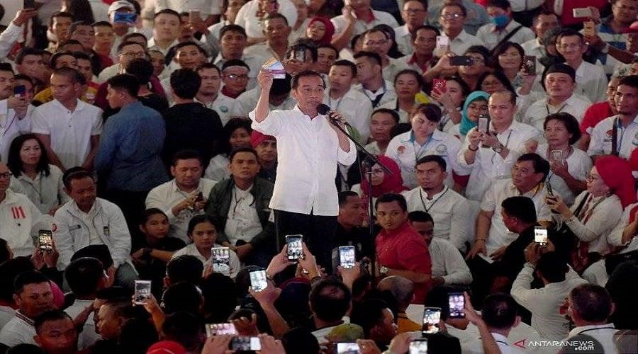 Presiden Jokowi saat kampanye Pilpres lalu. FOTO: Ricardo/JPNN