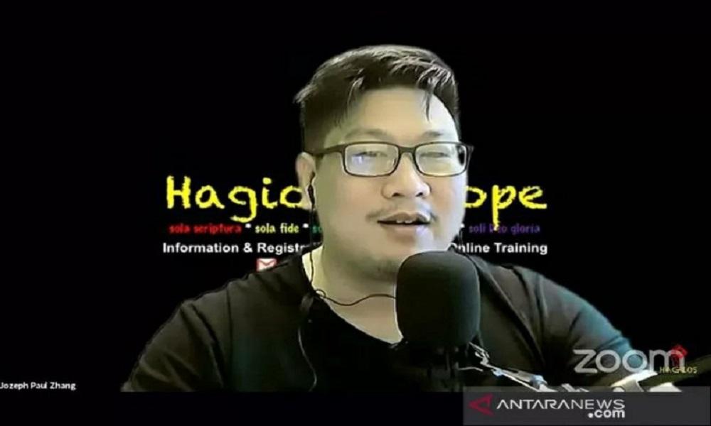 Pelaku penista agama, Jozeph Paul Zhang. FOTO: Antara