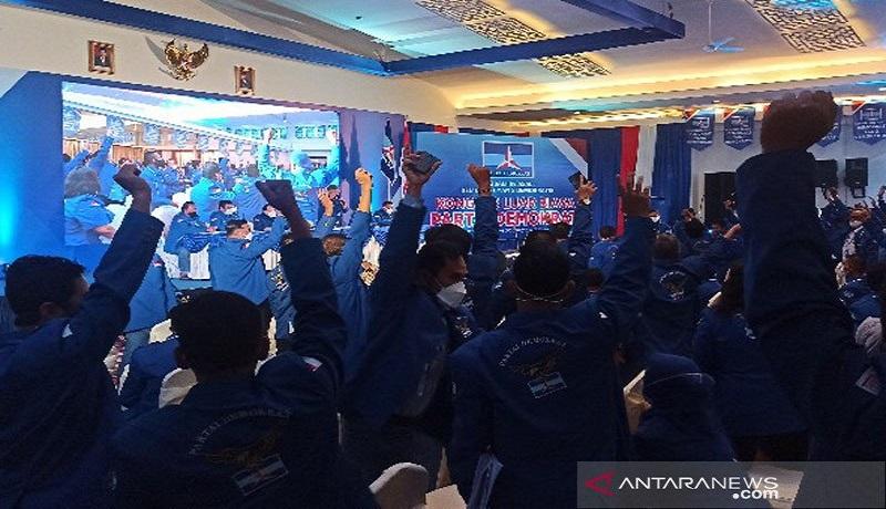 KLB Partai Demokrat di Deli Serdang, Sumatera Utara. FOTO: Antara