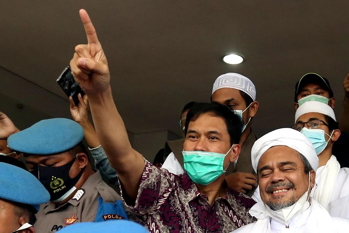 Habib Rizieq dan Munarman. FOTO: JPNN