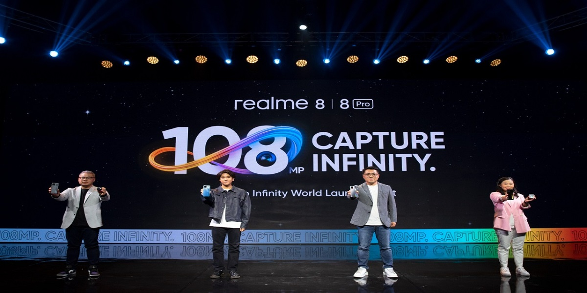 Peluncuran Realme 8 Series melalui video virtual. (PR Realme)