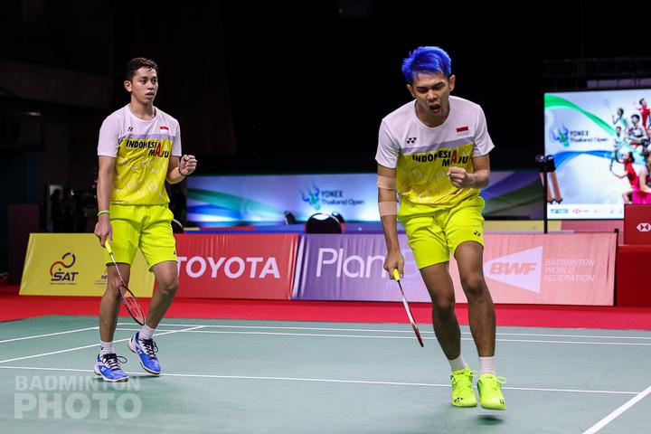 Fajar Alfian/Rian Ardianto di kompetisi Yonex Thailand Open 2021. (foto: Badmintonphoto)