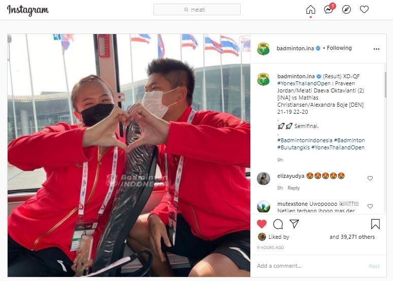 Buka-bukaan, Praveen/Melati Pamer Cinta Usai Lolos ke Semifinal