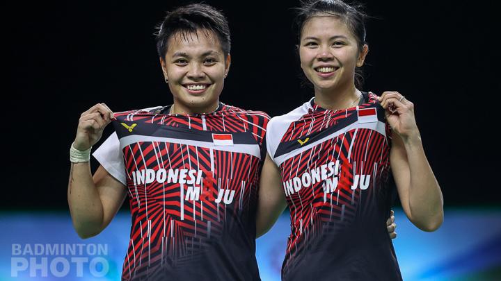 Greysia Polii dan Apriyani Rahayu, ganda putri andalan Indonesia. (foto: Badminton Photo)