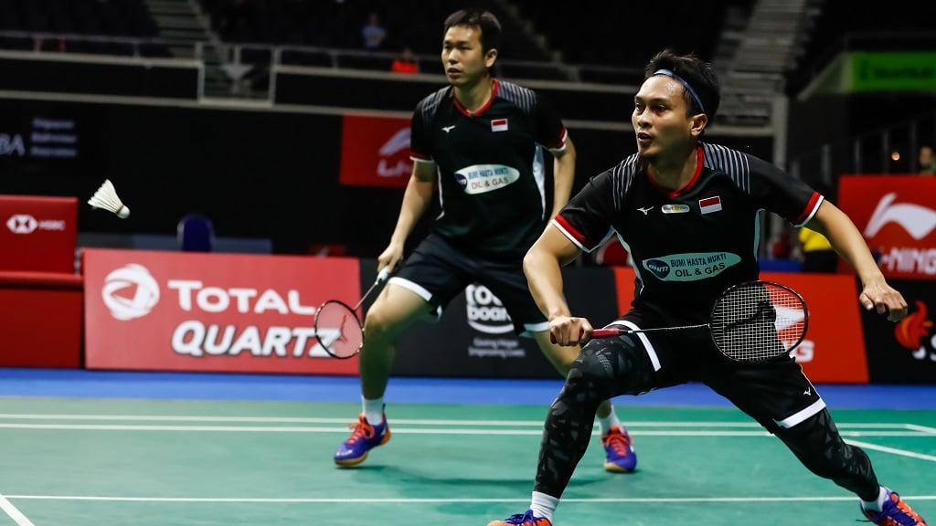Hendra Setiawan/Mohammad Ahsan, ganda putra Indonesia. (foto: bwfbadminton)