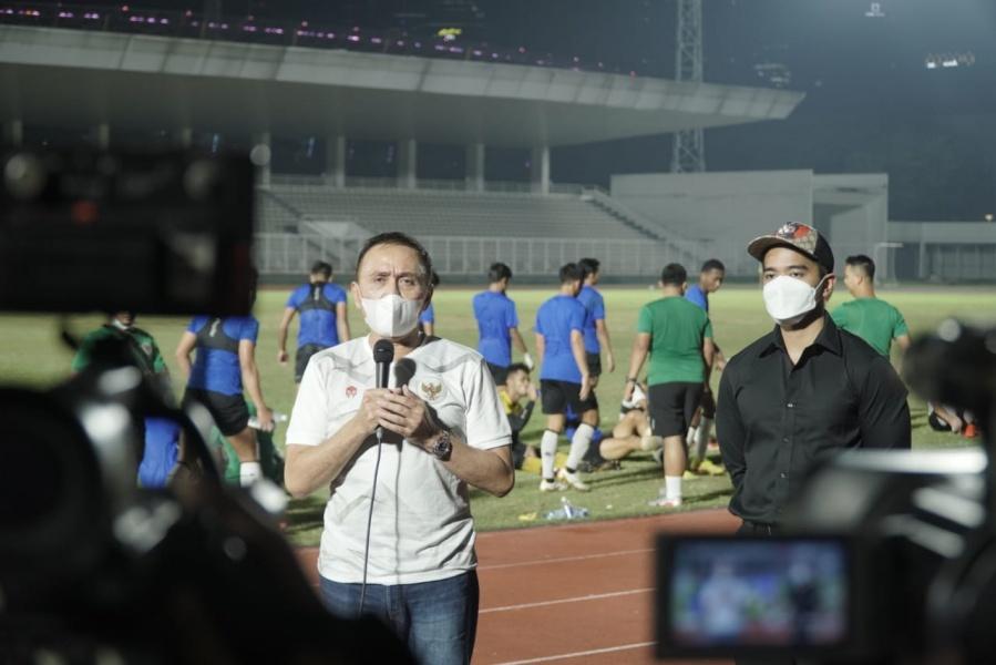 Ketua Umum PSSI Mochamad Iriawan memberikan pesan mendalam kepada Timnas Indonesia yang akan segera bertolak ke Dubai. (foto: PSSI)
