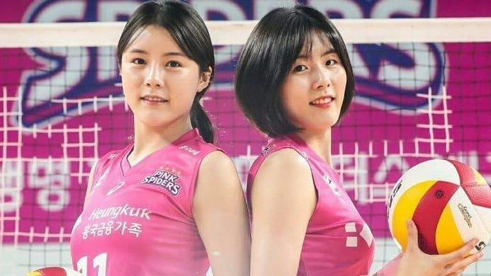 Lee Jae-yeong dan Lee Da-yeong, pemain Timnas Voli Korsel yang dihukum karena bullying. (foto: instagram.com/twins_leetwins1117)