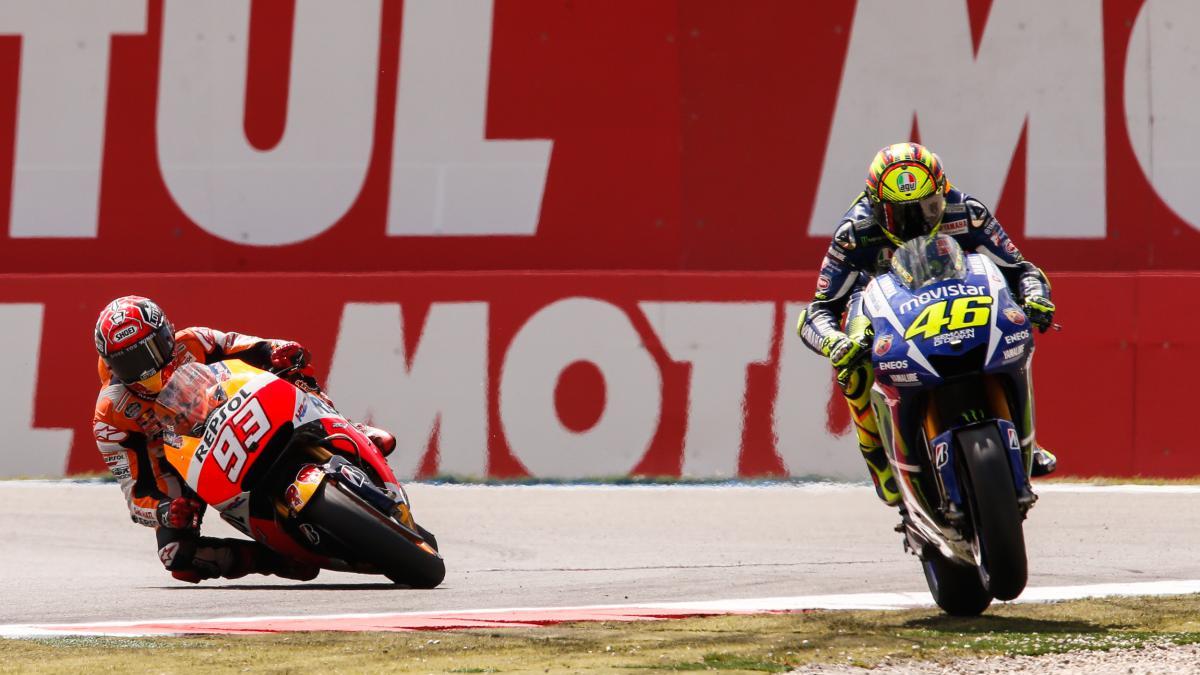 Marc Marquez (93) dan Valentino Rossi (46). (foto: MotoGP)