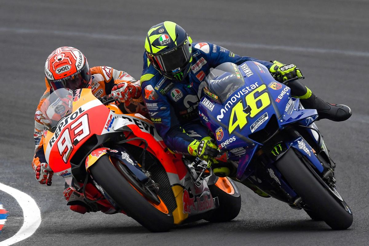 Jelang ajang balapan MotoGP Prancis, Marc Marquez secara tidak langsung memberikan hinaan kepada Valentino Rossi. (foto: MotoGP)