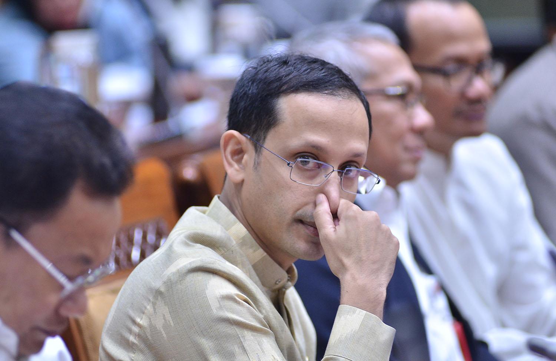 Akademisi politik Philipus Ngorang meyakini kapabilitas Nadiem Makarim sebagai Menteri Pendidikan, Kebudayaan, Riset, dan Teknologi (Mendikbud-Ristek).(foto: M Fathra Nazrul Islam/JPNN)