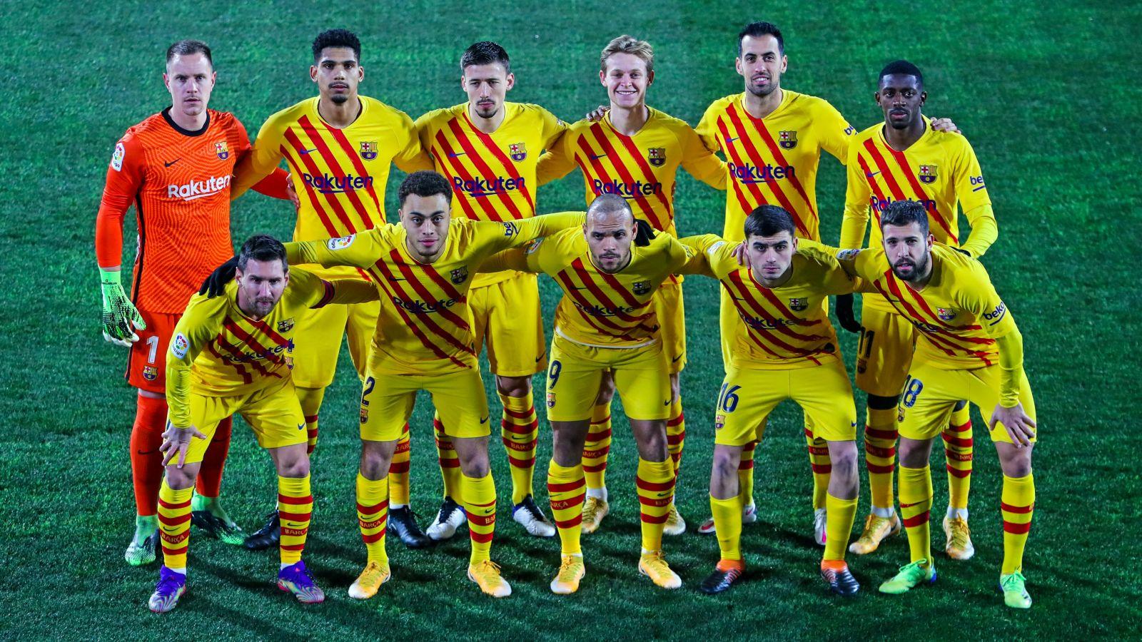 Skuad Barcelona saat bertandang ke kandang Huesca. (foto: twitter.com/FCBarcelona)