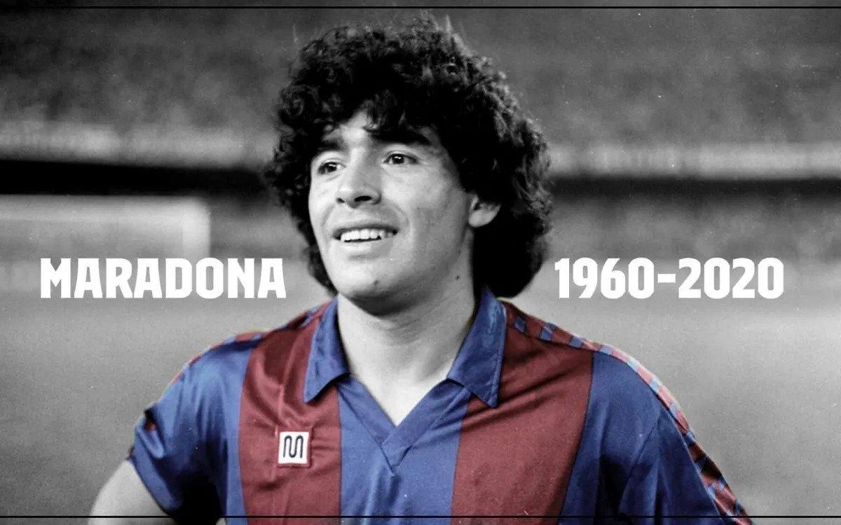 Diego Maradona saat membela Barcelona. foto: fcbarcelona.