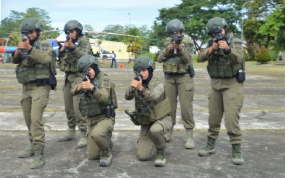 Brimob Polri mengirim Polisi Wanita (Polwan) terbaik untuk bergabung dalam Satuan Tugas (Satgas) guna memperkuat Operasi Nemangkawi di Papua. Foto:Humas Polri