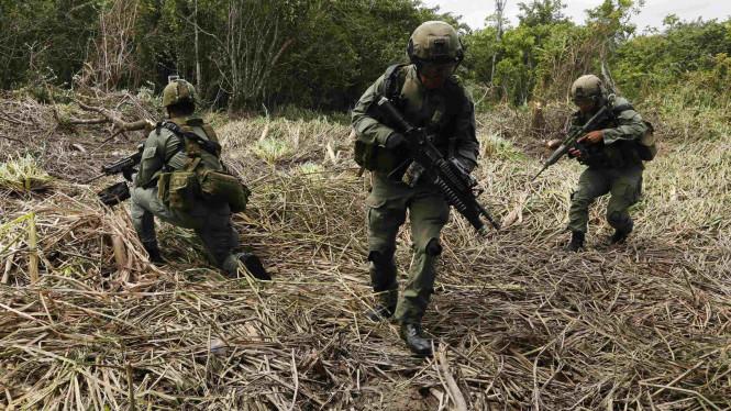 Militer Kolombia. Foto: John Vizcaino/Reuters.