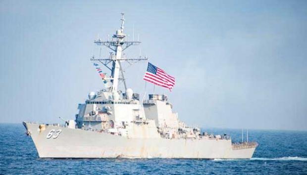 Kapal perang Amerika saat berada di Laut Cina Selatan. Foto: Reuters.