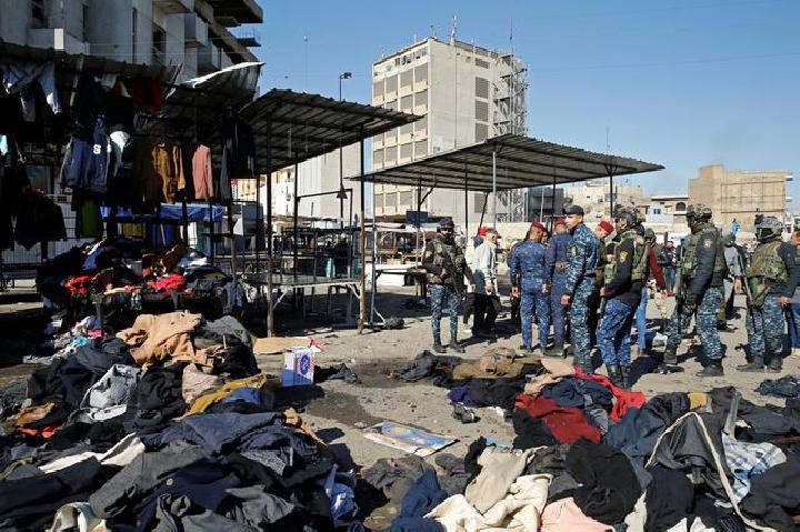 28 Warga Irak Tewas dalam Serangan Bom Bunuh Diri di Pusat Bisnis
