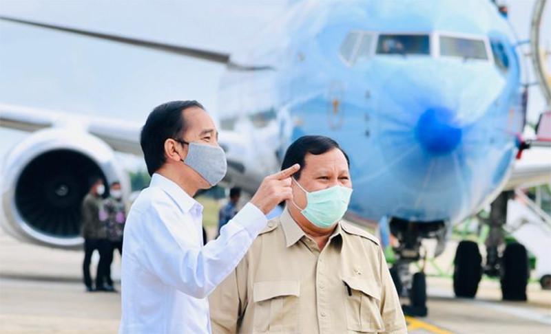 Presiden Joko Widodo (Jokowi) dan Menteri Pertahanan Prabowo Subianto . Foto : Dok Biro Pers Sekretariat Presiden.