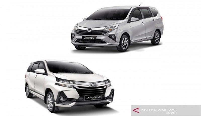 Ilustrasi-Mobil Daihatsu Sigra dan Xenia. Foto: Antara.