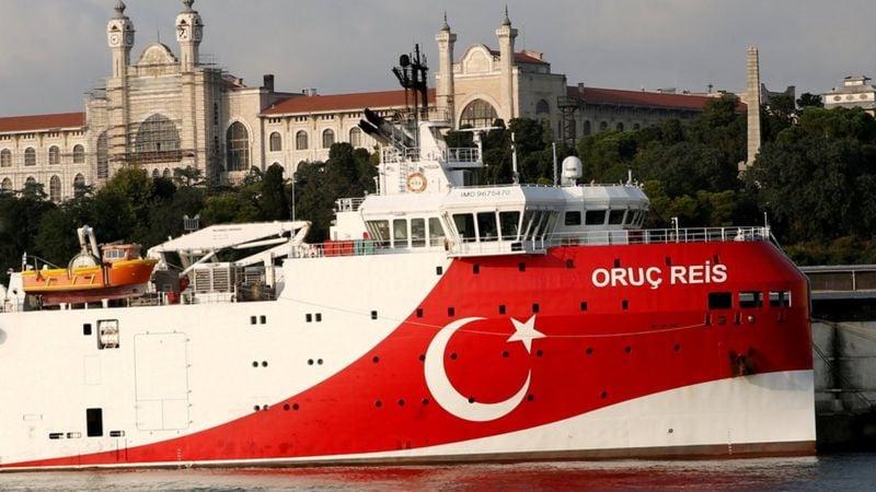 Ilustrasi-Kapal perang Turki. Foto: Reuters.