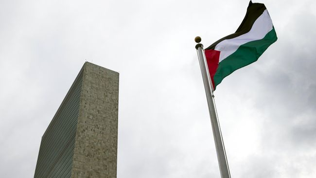 Bendera Palestina. Foto Reuters/Andrew Kelly.