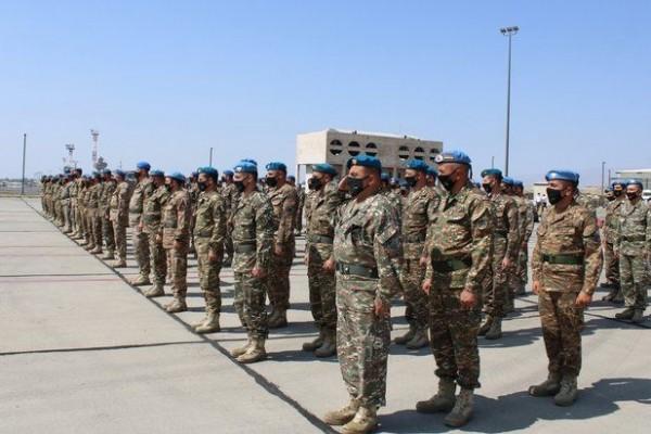 Tentara Armenia ketika sedang melakukan latihan. Foto: Twitter.com/ArmeniaMODTeam.