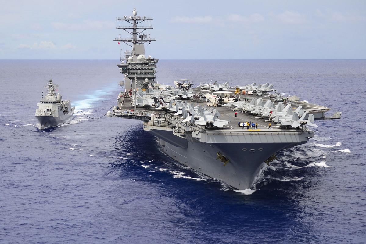 Kapal induk Amerika Serikat USS Nimitz telah bergerak menuju Laut China Selatan. Foto: U.S. Navy