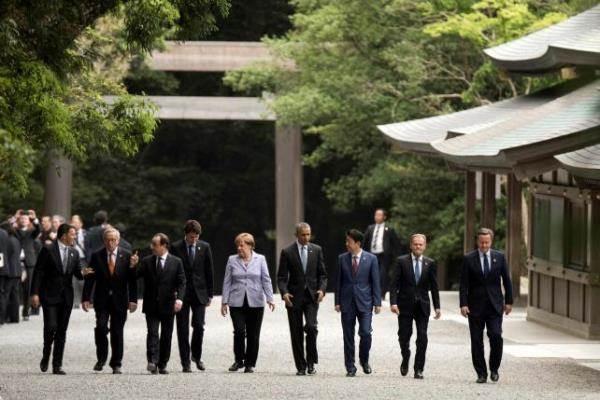 Para kepala negara anggota G7. Foto: Reuters.