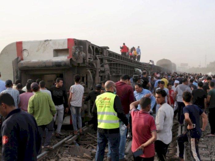 Kecelakaan kereta api di Mesir. Foto: Reuters.